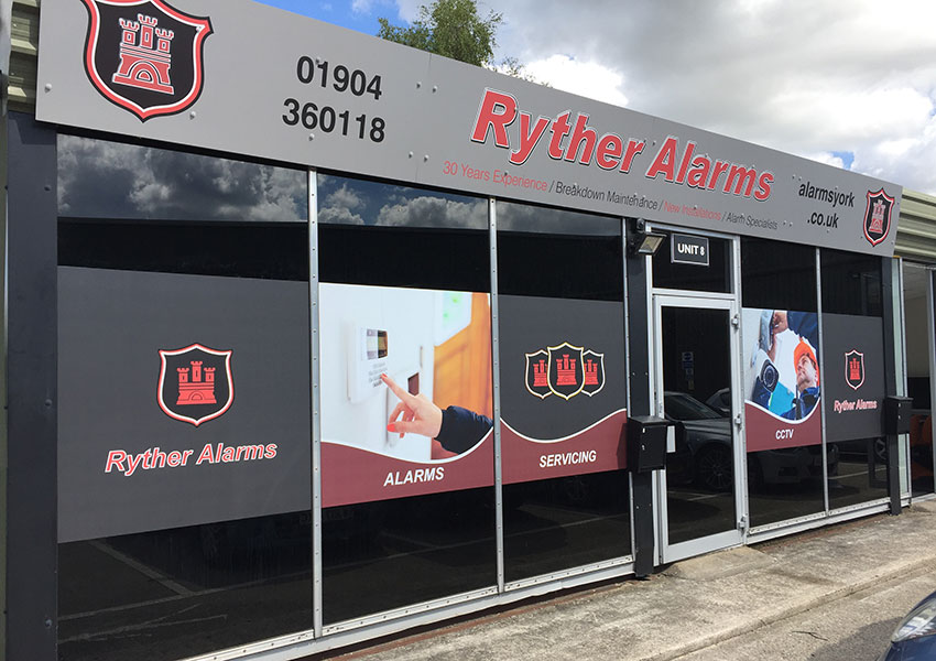 ryther alarms shop front