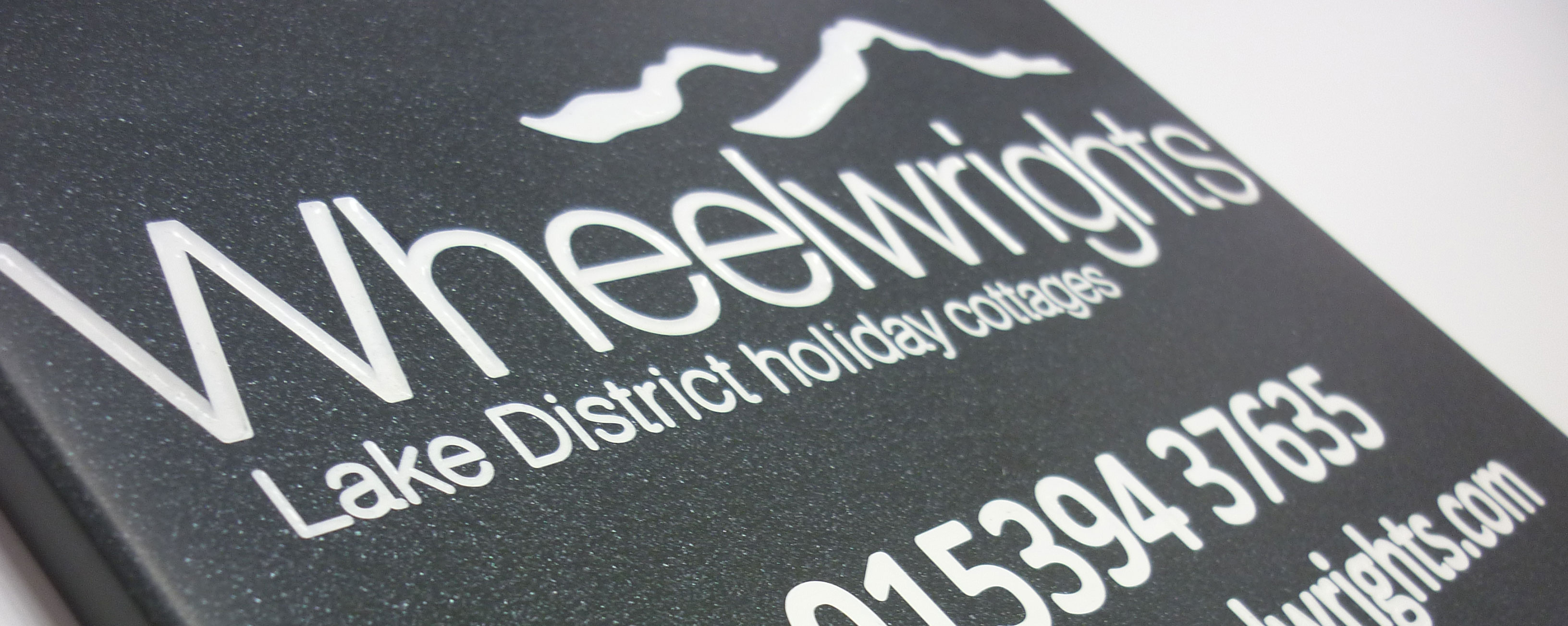 marble effect corian engraved plaque