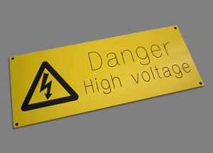 engraved electrical labels