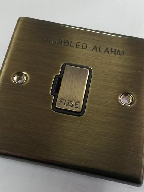 metal engraved switch