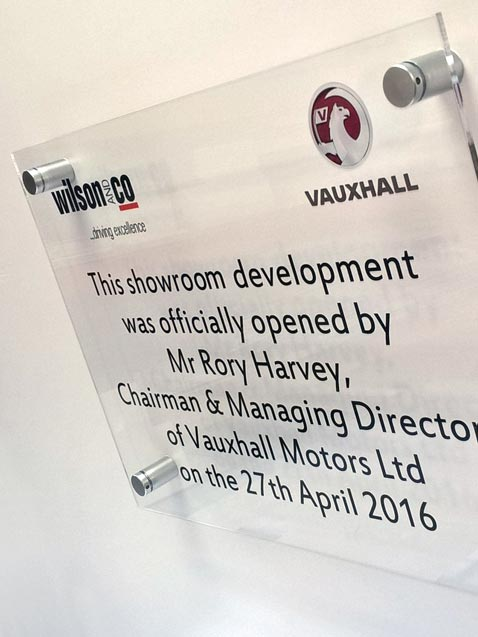 perspex plaque for unveiling