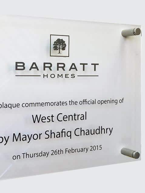 office nameplate perspex plaque