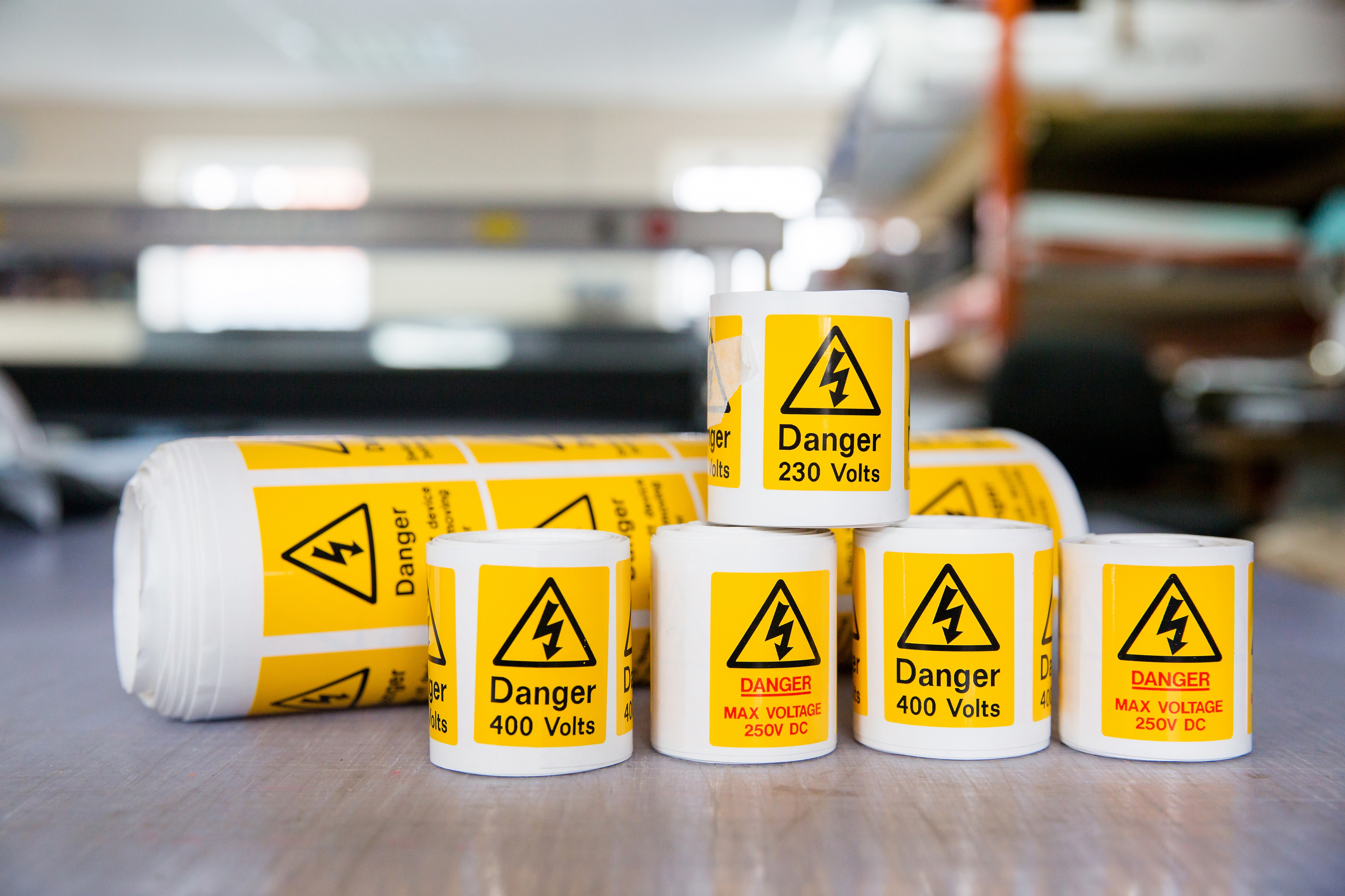 Electrical Sticker Labels