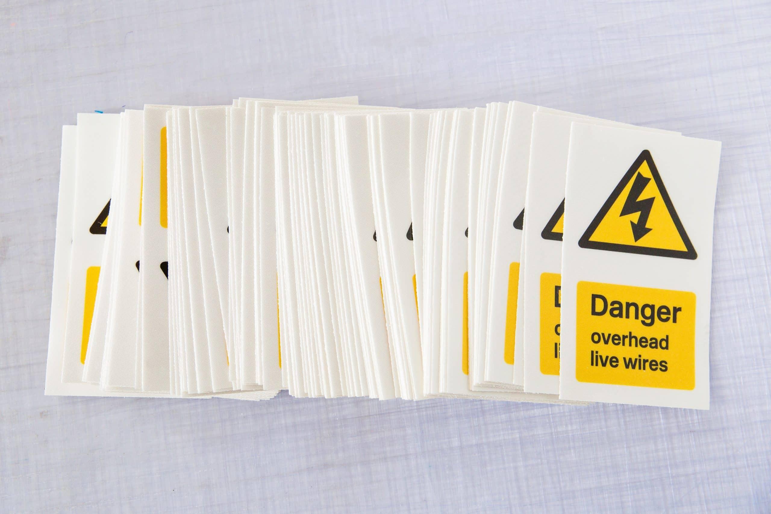 danger stickers