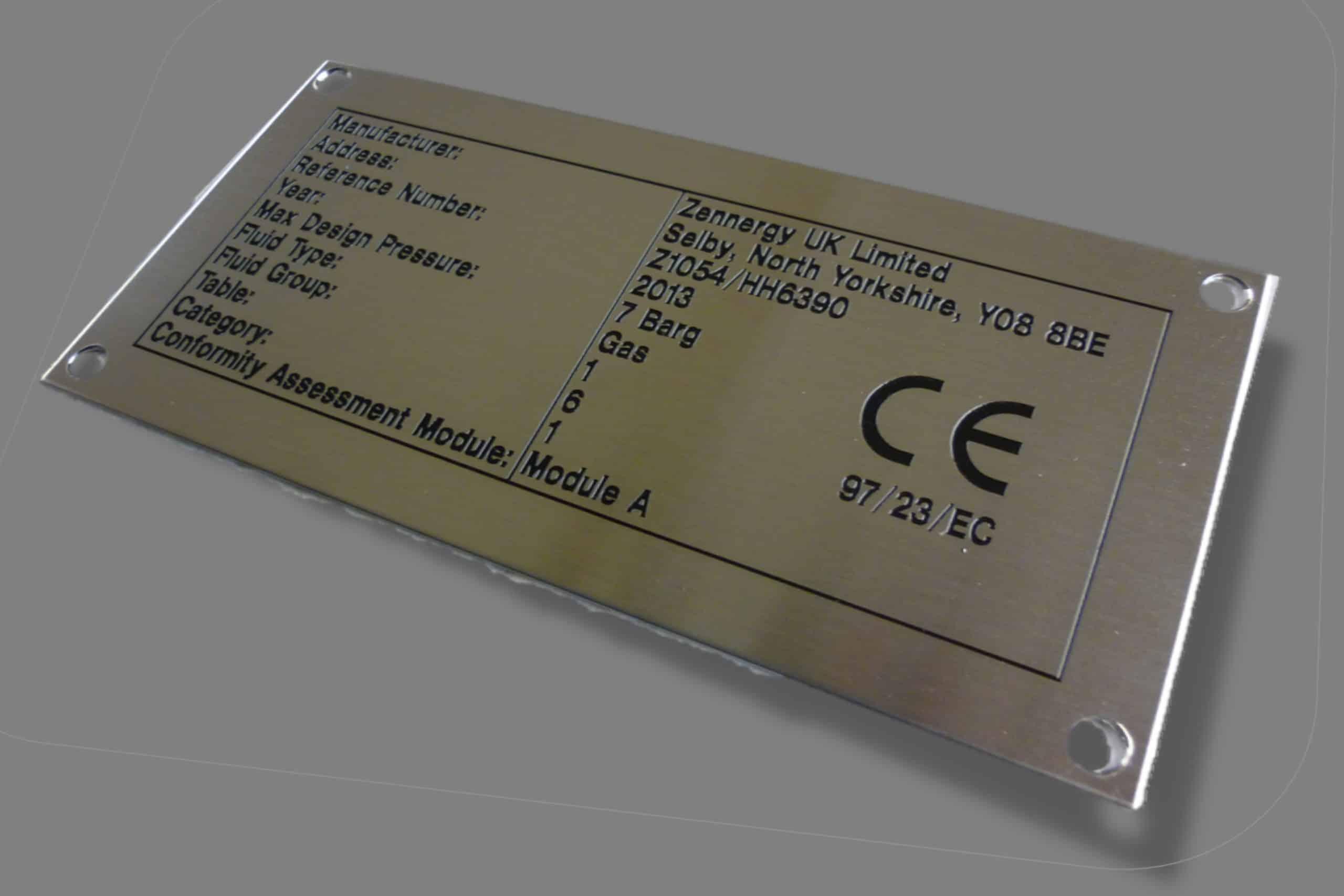 Engraved Serial Plate
