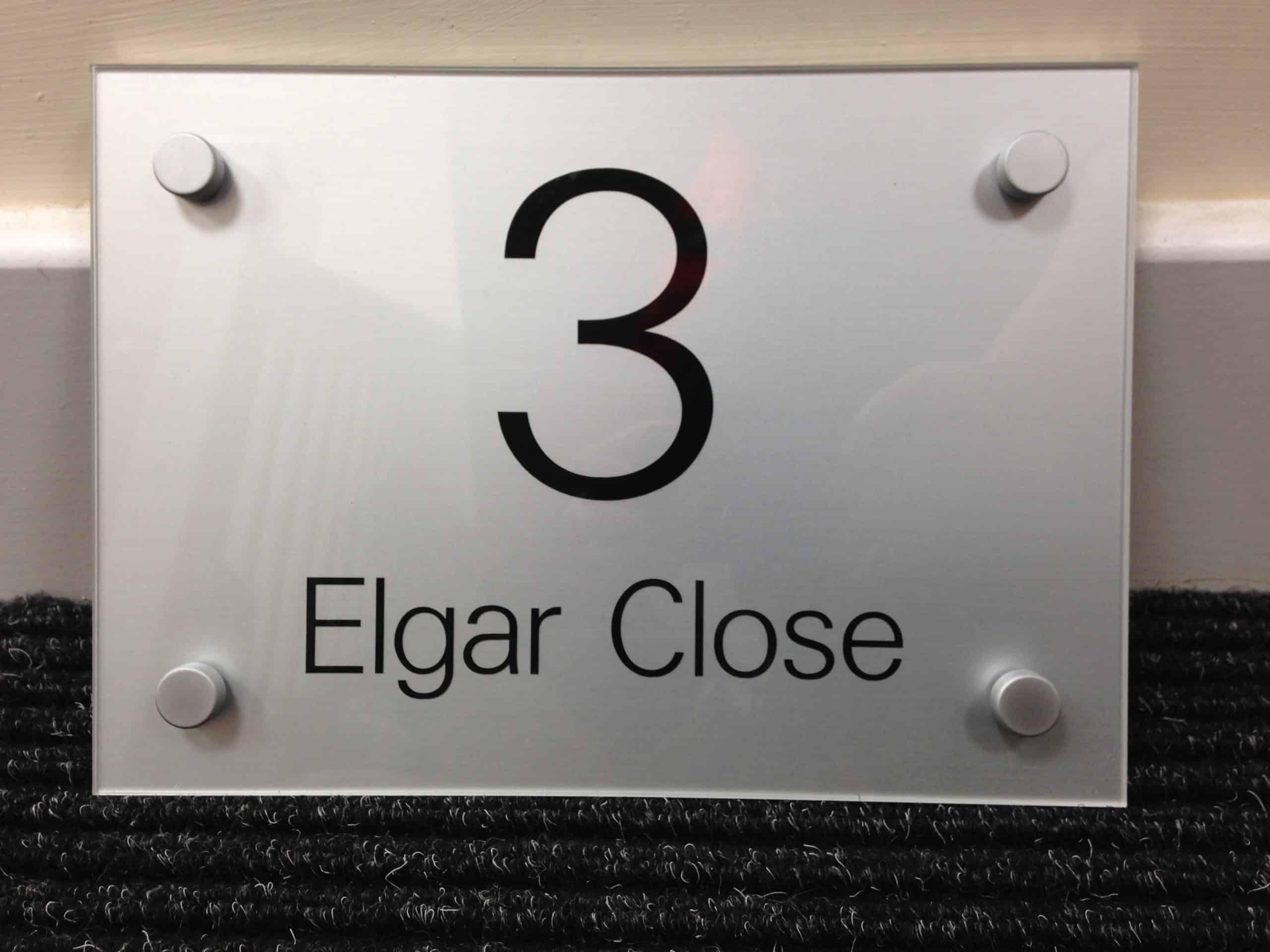 perspex door number