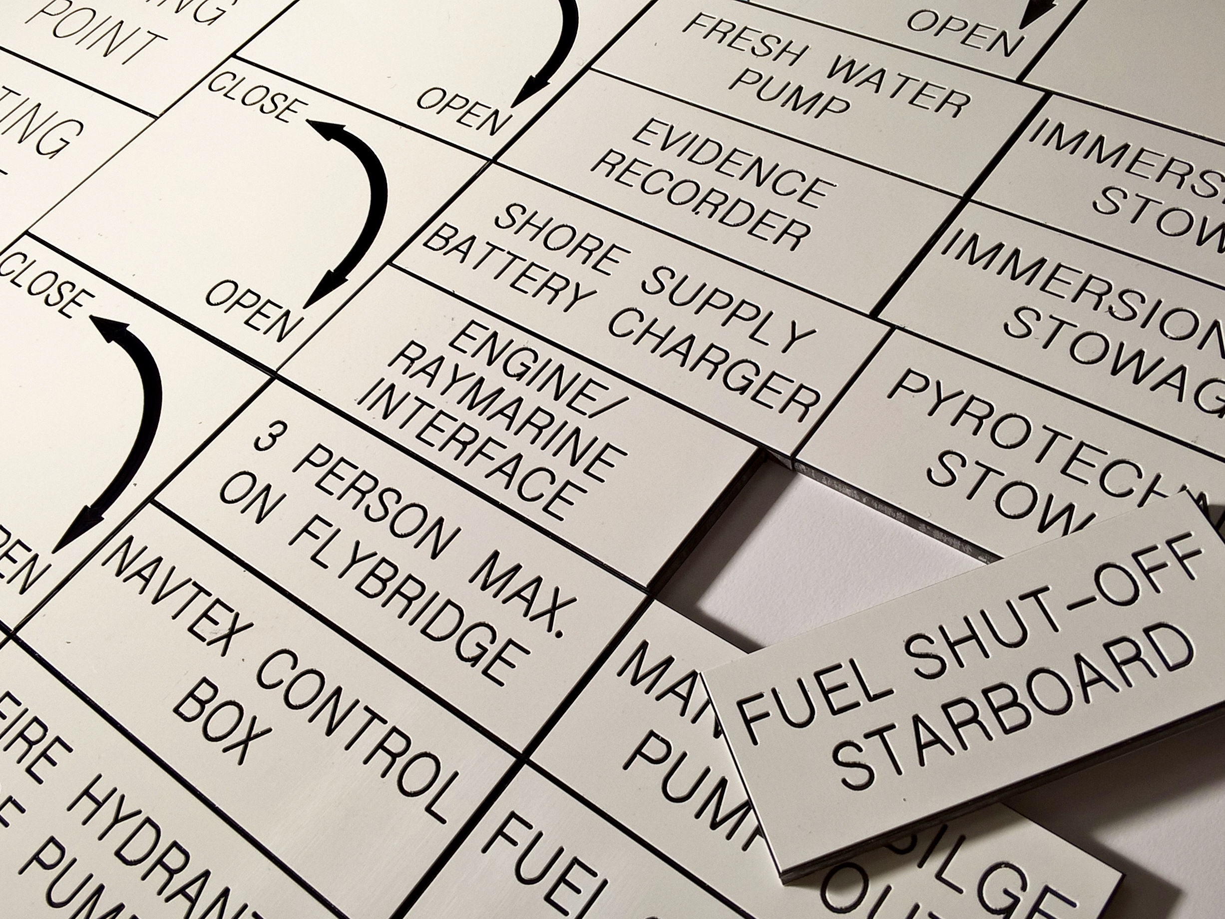 Serial Plates and Asset Labels