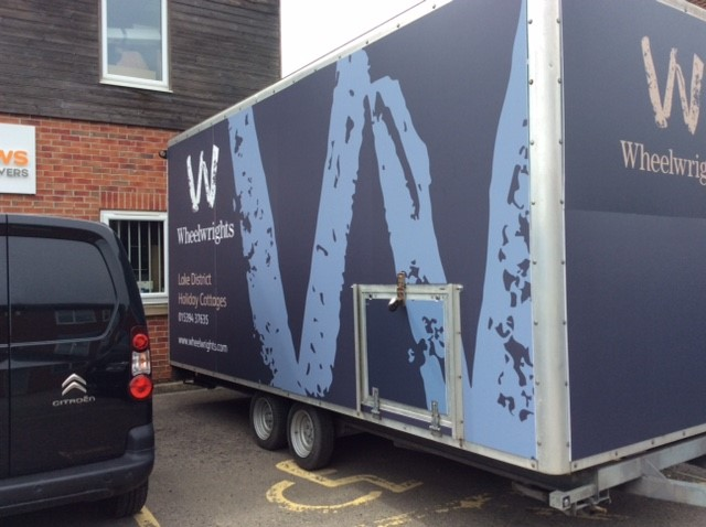 Trailer fitted with Bespoke Signage